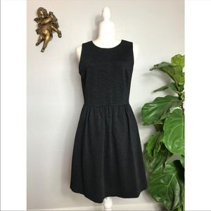 J. Crew Factory gray basic A-line dress